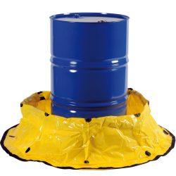Cubeta de retención flexible de polietileno para un bidón, 250 litros 13,5 cm x 13,5 cm x 3,05 cm