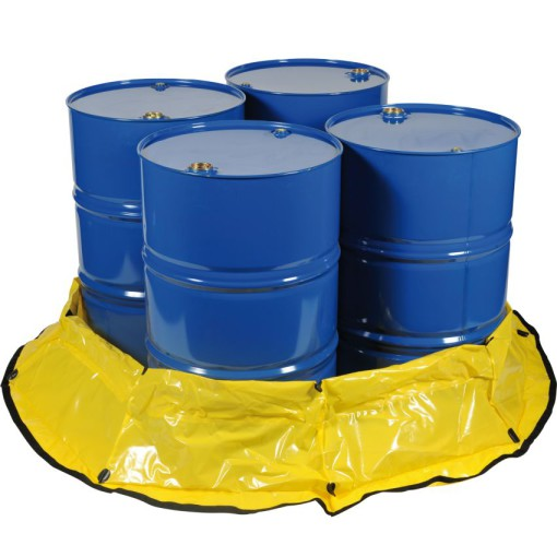 Cubeta de retención flexible de polietileno  para 4 bidones o contenedor, 567 litros 19,3 cm x 19,3 cm x 3,05 cm 1