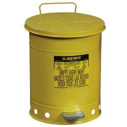 Papelera metal para residuos oleosos y disolventes 38 litros