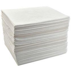"""200 hojas absorbentes hidrocarburos """"Prim´s"""" simple espesor. La mejor relación calidad-precio. 41 cm x 46 cm"""