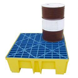 Cubeta de retención de polietileno 4 bidones, 510 litros 132 cm x 132 cm x 43 cm