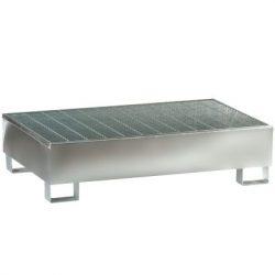 """""""Prim's"""" Cubeta de retención de acero galvanizado  2 bidones Prim's, 220 litros. 120 cm x 80 cm x 39,3 cm"""
