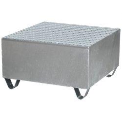 Cubeta de retención de acero galvanizado para 1 bidón de Haleco 01
