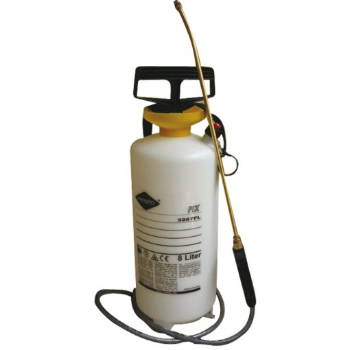 Pulverizador con depósito de 8L en polietileno. Pulverizador de presión a 3 bares