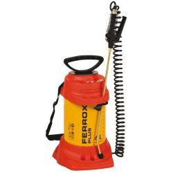 Pulverizador de alta presión con depósito 6 L en acero.  Para líquidos agresivos. Juntas de FPM Viton®.