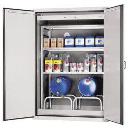 Armario de seguridad en acero antifuego para bidones tipo 90, 780 litros 155,5 cm x 101,5 cm x 222,5 cm