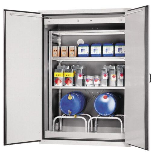Armario de seguridad en acero antifuego para bidones tipo 90, 780 litros 155,5 cm x 101,5 cm x 222,5 cm 1