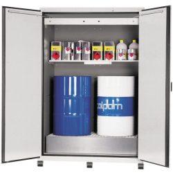 Armario de seguridad en acero antifuego para bidones tipo 90, 800 litros