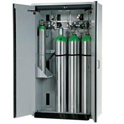 Armario de seguridad interior antifuego para 4 botellas de gas, tipo 30. 120 cm x 61,5 cm x 205 cm
