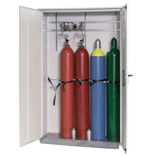 Armario de seguridad para exteriores con capacidad para 5 botellas de gas 135 cm x 40 cm x 215 cm 1