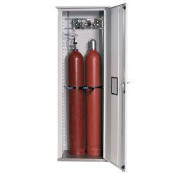 Armario de seguridad exterior para 2 botellas de gas. 74 cm x 47 cm x 215 cm