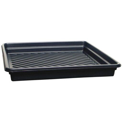Cubeta de retención en polietileno para bidones, 102 litros 101,6 cm x 101,6 cm x 12,7 cm 1