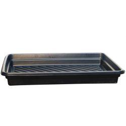 Cubeta de retención en polietileno para bidones, 68 litros 102,2 cm x 71,8 cm x 12,7 cm