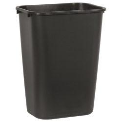 Papelera plástico flexible color Negro para recogida selectiva 39 L, 28 cm x 39 cm x 50,5 cm