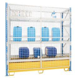 Armario enrejado de seguridad para cargas semipesadas 180 cm x 80 cm x 200 cm