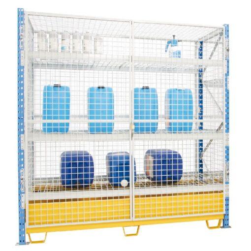 Armario enrejado de seguridad para cargas semipesadas 180 cm x 80 cm x 200 cm 1