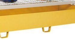 Cubeta de retención en acero barnizado 375 litros para armario enrejado. 180 cm x 80 cm x 36 cm