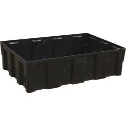 Cubeta de retención en polietileno modular 2 bidones, 250 litros 121 cm x 81 cm x 33 cm