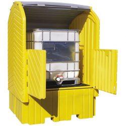 Contenedor exterior de polietileno 1 contenedor, 1360 litros 164 cm x 157,5 cm x 244 cm