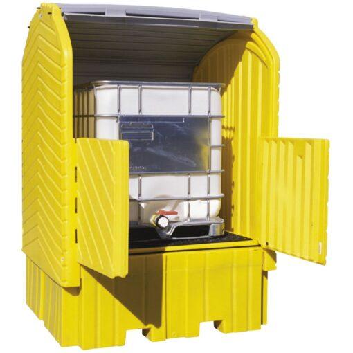 Contenedor exterior de polietileno 1 contenedor, 1360 litros 164 cm x 157,5 cm x 244 cm 1