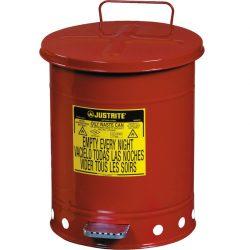 Papelera metal para residuos oleosos y disolventes 23 litros