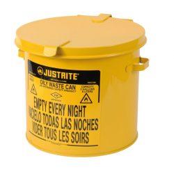 Papelera metal para residuos oleosos y disolventes 8 litros