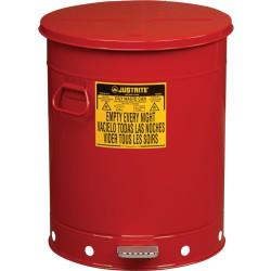 Papelera metal para residuos oleosos y disolventes 79 litros