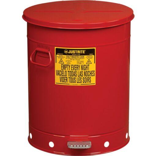 Papelera metal para residuos oleosos y disolventes 79 litros 1
