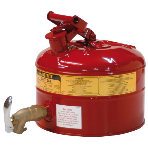 Bidón de seguridad con grifo grande caudal para productos inflamables 1