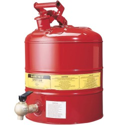Bidón de seguridad con grifo grande caudal para productos inflamables