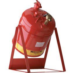 Bidón de seguridad con soporte basculante y grifo para productos inflamables