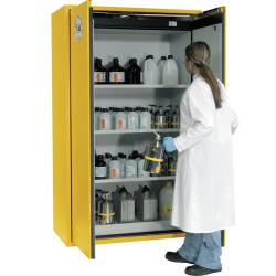 Armario de seguridad antifuego con abertura semiautomática tipo 90, 225 litros 90 cm x 61,5 cm x 196,8 cm
