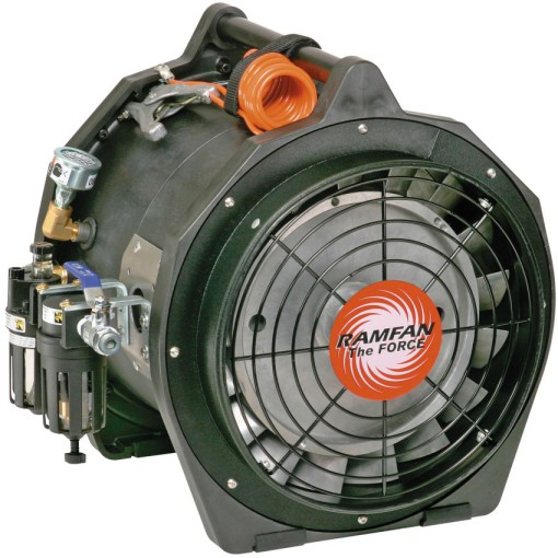 Ventilador extractor neumático portátil antiestático, Ø 30 cm 1