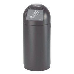 Cyvomax  Papelera de plástico color Negro con trampilla 61 L, 37 cm x 37 cm x 89 cm