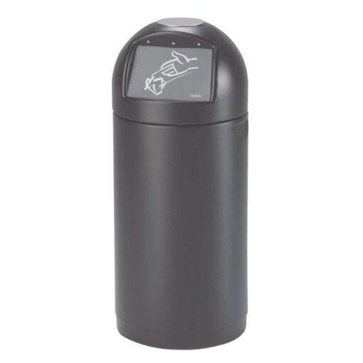 Cyvomax  Papelera de plástico color Negro con trampilla 61 L, 37 cm x 37 cm x 89 cm 1