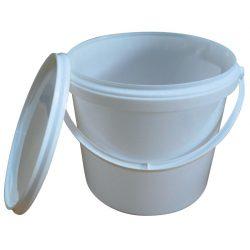 Cubo de plástico con tapa, 30 litros