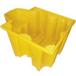 Cubeta de retención de polietileno 1 GRG/IBC  con estación de trasiego, 1100 litros 130 cm x 170 cm x 94 cm