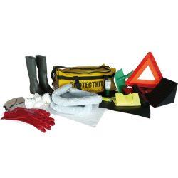 Kit ADR reglamentario con placa de obturación y absorbentes