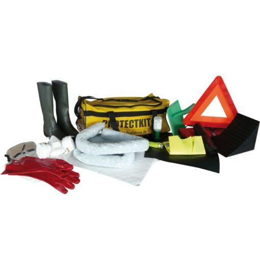 Kit ADR reglamentario con placa de obturación y absorbentes 1
