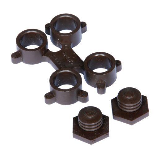 Optimat® Enganche de conexión para losas-rejillas 4 cm x 4 cm x 1 cm 1