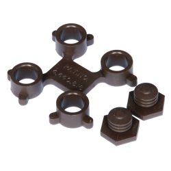 Optimat® Enganche de conexión para losas-rejillas 4 cm x 4 cm x 1 cm