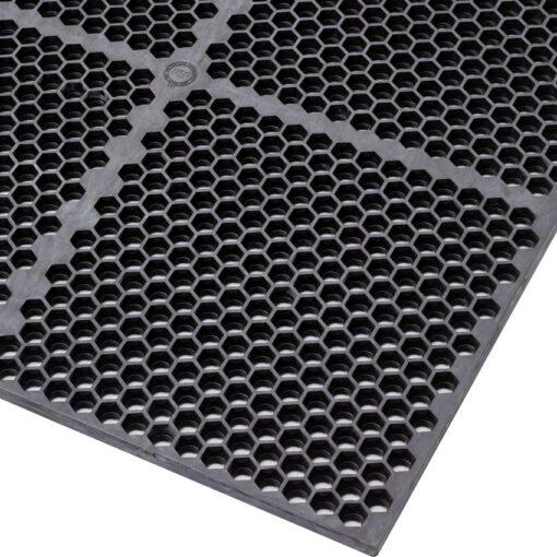 Optimat® Losa-rejilla antifatiga para agroalimentario para un uso extremo 117 cm x 91 cm x 1,27 cm 1