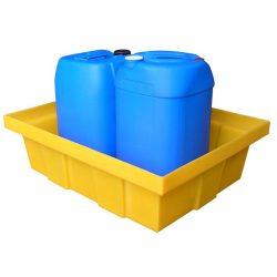 Cubeta de retención polietileno para frascos, 70 litros 81 cm x 64 cm x 15 cm