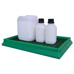 Cubetas de retención polietileno para recipientes pequeños 8 litros 60 cm x 40 cm x 7 cm