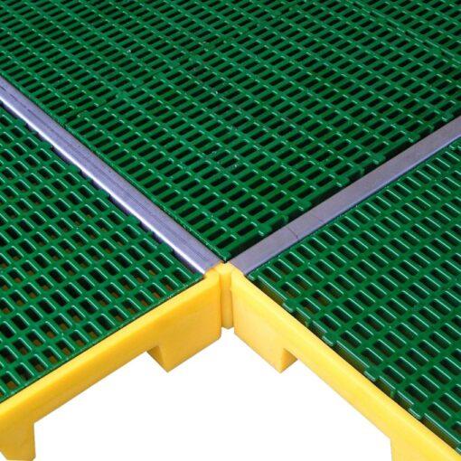 Tapajunta de acero inoxidalbe para plataforma 161 cm x 4 cm x 3,5 cm 1