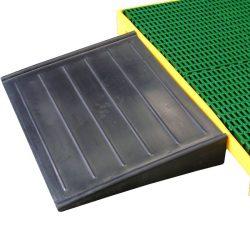 Rampa de polietileno para plataforma 120 cm x 80 cm x 15 cm