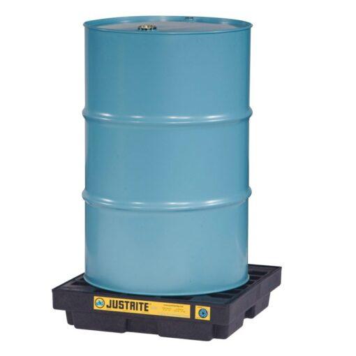 Plataforma de retención polietileno fabricación ecológica 1 bidón, 45 L 63,5 cm x 63,5 cm x 14 cm 1
