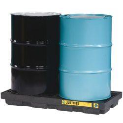 Plataforma de retención polietileno fabricación ecológica 2 bidones, 90 L 124,5 cm x 63,5 cm x 14 cm
