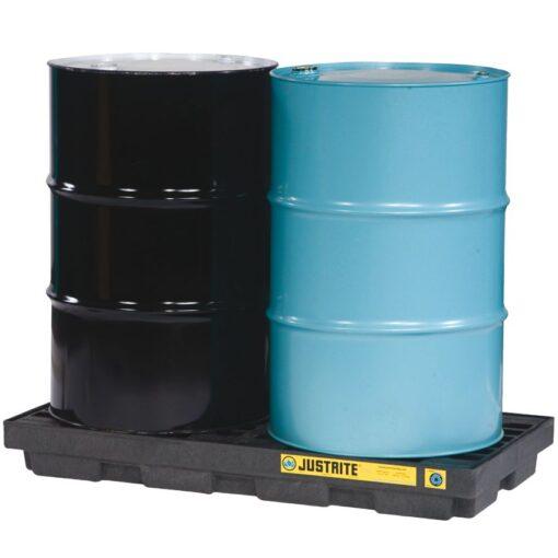 Plataforma de retención polietileno fabricación ecológica 2 bidones, 90 L 124,5 cm x 63,5 cm x 14 cm 1