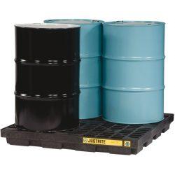 Plataforma de retención polietileno fabricación ecológica 4 bidones, 185 L